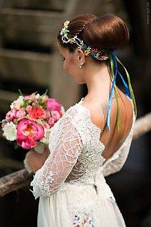 Ozdoby do vlasov - lúčny svadobný venček \