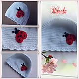 Detské čiapky - ciapka lienka - 4522422_