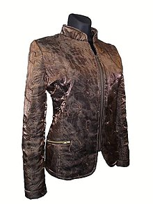 Kabáty - hrdzavá, prešívaná bunda - 4551608_