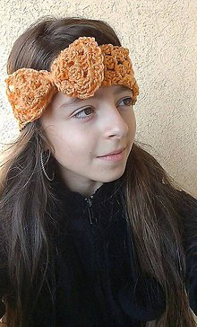 Ozdoby do vlasov - mašloČelenka-marhuľka - 4553486_