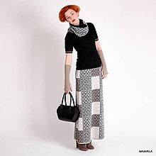 Sukne - KIARA áčková maxisukně s patchworkovým vzorem - 4558680_