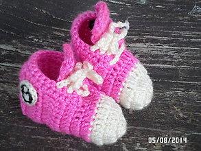 Topánočky - botasečky ružové :) - 4575184_