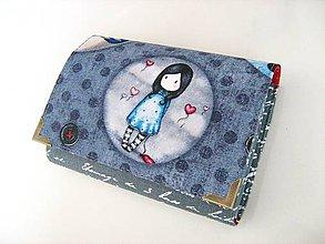 Peňaženky - Já jsem zamilovaná- roztomilá peněženka i na karty - 4587186_