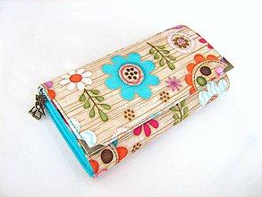 Peňaženky - Kytičky v lese - i na karty, 17 cm - 4587236_