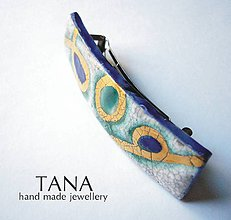 Ozdoby do vlasov - Tana šperky - keramika/zlato, spona do vlasov - 4608481_