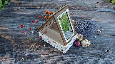 Krabičky - Šperkovnica so zrkadlom - 4618961_