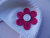 Detské čiapky - ciapocka kvetinka - 4626021_