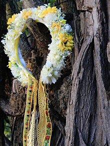 Ozdoby do vlasov - Parta  svadobná Yellow folklore - 4636961_