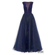 Šaty - Spoločenské šaty s tylovou sukňou - 4649649_
