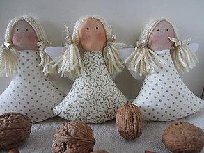 Dekorácie - vianočné anjeločky - 4657472_