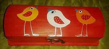 Krabičky - vtáčiková krabička - 4663386_