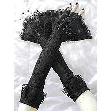 Rukavice - Dámské čipkové bezprstové rukavice  0100A - 4694917_