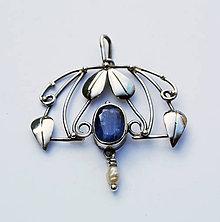 Náhrdelníky - Kyanit pendant - 4699965_