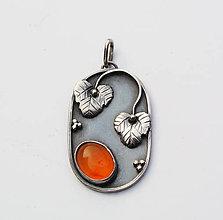 Náhrdelníky - Karneol pendant - 4751954_