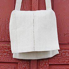 Veľké tašky - Pastierska kapsa z domáceho plátna 2 - 4762523_