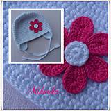 Detské čiapky - ciapocka kvetinka - 4767652_