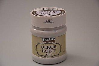 Farby-laky - Dekor soft paint farba,230 ml, prírodná biela - 4785214_