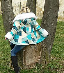 Kabáty - Mozaika - tyrkys - 4800961_