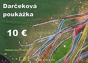 Darčekové poukážky - darčeková poukážka 10€ - 4807981_