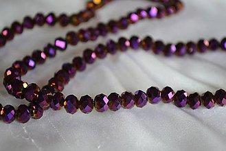 Korálky - Korálky brúsené sklenené fialové, 0.40€/10ks - 4838815_