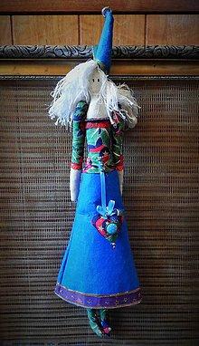 Bábiky - Škriatkovská anjelka v modrom - 4851245_