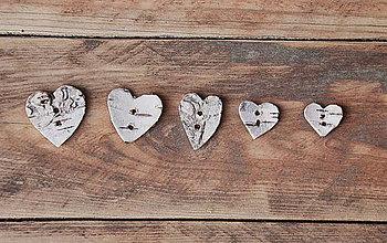 Materiál ručne robený - Gombík z brezovej kôry - 4857028_
