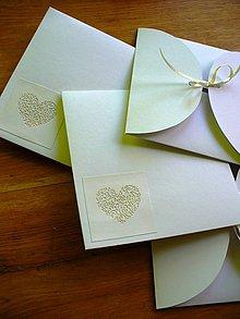 Papiernictvo - obal na svadobné CD/ alebo pozvánku - 4858166_