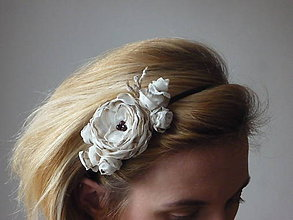 Ozdoby do vlasov - Čelenka ruže kapučíno maľovaná - 4872808_