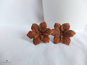 Náušnice - Klimtová záhrada - 4880124_