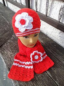 Čiapky - set červeno-biely - 4885311_