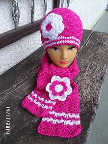 Čiapky - set ružovo biely - 4885405_