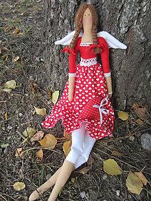 Bábiky - anjelka v červenom - 4886011_