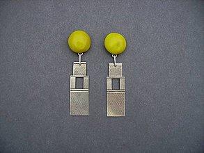 Náušnice - Tabatierky (žlté) - 4889391_