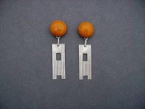 Náušnice - Tabatierky (oranžové) - 4889593_