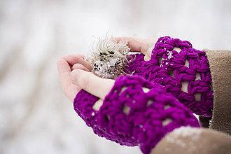 Rukavice - Violet - rukavice - 4891431_