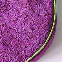 Úžitkový textil - Sedák ve fialovo zelené kombinaci - 4896497_