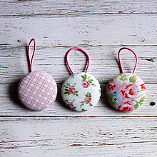Ozdoby do vlasov - Gumičky do vlasov s buttonkami Vintage v ružovej - 4909790_