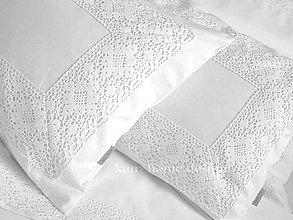 Úžitkový textil - Pos.bielizeň ADELA double s maxi čipkou - 4908871_