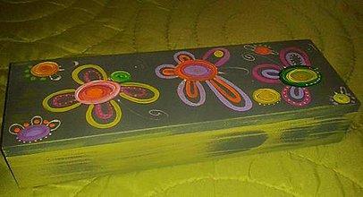 Krabičky - kvietkovaná krabička - 4922175_