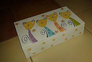 Krabičky - mačiatková krabička - 4922220_