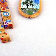 Kurzy - Maľované drevené šperky - 4936485_