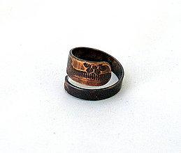 Kurzy - Medený nastaviteľný prsteň - 4936633_