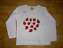 Detské oblečenie - lienkovaté tričenko - 4954404_