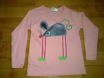 Detské oblečenie - tričenko myšičkové - 4956598_