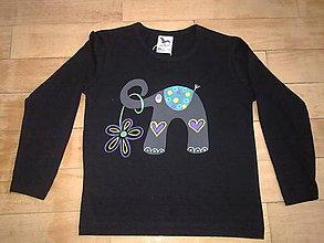 Detské oblečenie - sloníkové triko - 4956573_