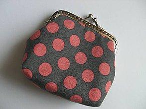 Peňaženky - Lososové bodky na sivej - 4963807_