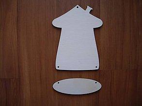 Materiál ručne robený - Tabuľka na dvere - domček 2 - 4963254_
