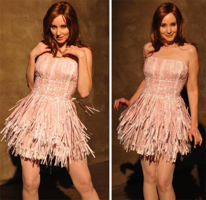 Как сделать платье из бумаги на человека своими руками