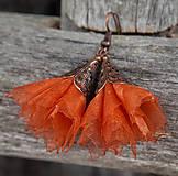 Náušnice - Tanečnice tehlovo-oranžové - 4988237_