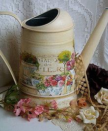 Nádoby - polička plná kvetov.... - 4992163_